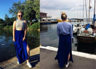 Martyna Kochanowska, czyli do something amazing: THRIFTED MAXI SKIRT | TWO OUTFITS