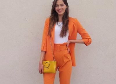 A może Pomarańczowy Garnitur?  Wiosenna Stylizacja /Jak zmienił się mój styl przez 5 lat?