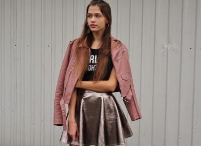 Outfit z Metaliczną Spódnicą na Andrzejki i zamówienie z Zaful