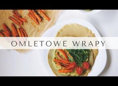 VIDEO PRZEPIS | OMLETOWE WRAPY Z PASTĄ Z BOBU | pomysł na obiad