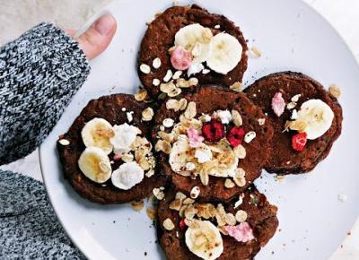 FIT pancakes owsiane a'la brownie