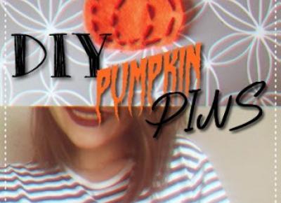 Justine Katherine: DIY: Dyniowa przypinka | Pumpkin pin || messylizzoween