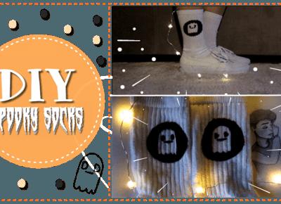 Justine Katherine: DIY: Duszkowe skarpety | Spooky socks || messylizzoween