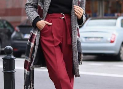 Spodnie z wysoką talią