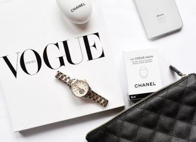 Diamenty, biel, czerń, szkło i Vogue | Diamonds, white, black and Vogue - minimedge