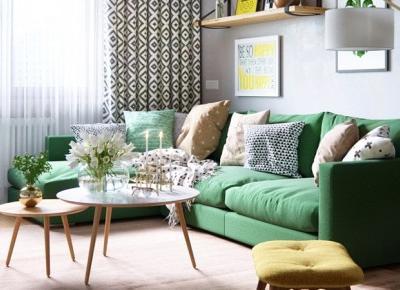 Stylowa aranżacja mieszkania z kolorowymi detalami