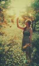 Jesienny zachód słońca ~ Zagubiona w wyobraźni