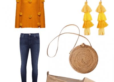 Stylizacja ze swetrem w najmodniejszym kolorze sezonu! | Inspiracje modowe :: blog modowy - modoweinspiracje.pl