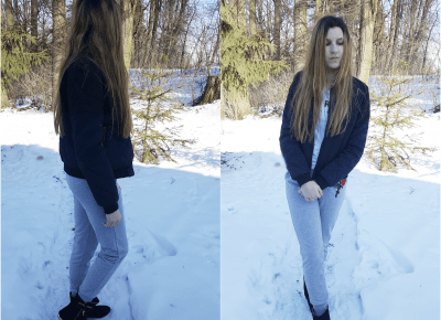Moniqa-blog: Outfit: Spodnie z różą   Kubek