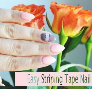 Easy Striping Tape Nail Art - Semilac