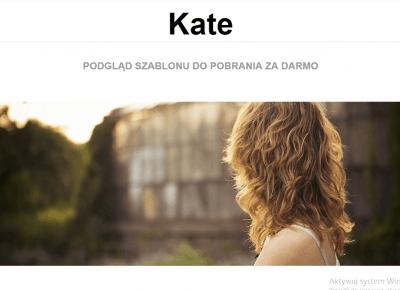 Invincible templates: Kate-darmowy szablon na bloggera
