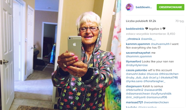 Natalia Krawczyk: Baddie Winkle, czyli najstarsza szafiarka na świecie
