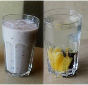 2 zdrowe letnie napoje - koktajl i lemoniada ze śliwek  - Natalia Kaczmarek