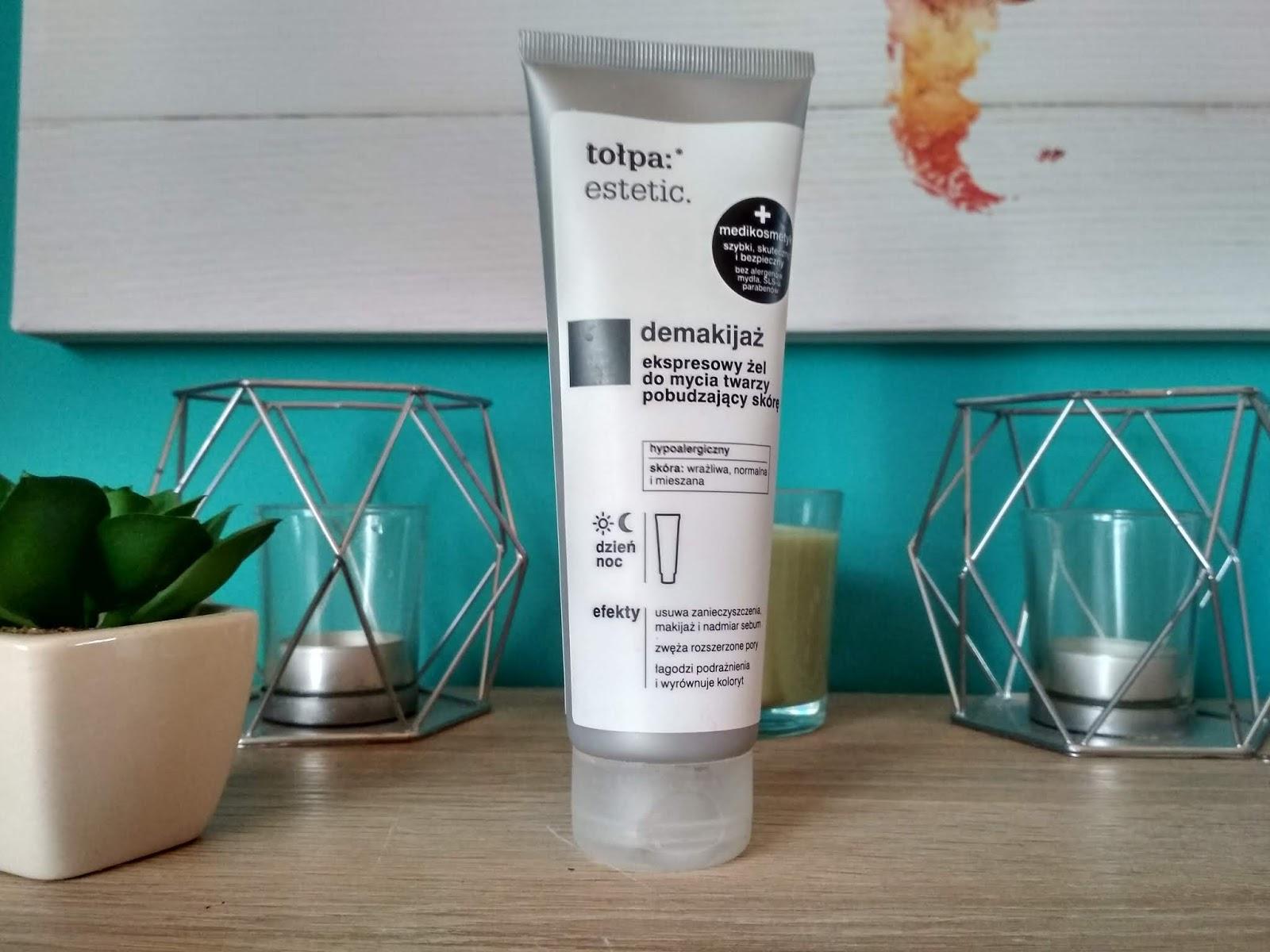 Recenzja - Tołpa:estetic. demakijaż - ekspresowy żel do mycia twarzy pobudzający skórę | N. o kosmetykach