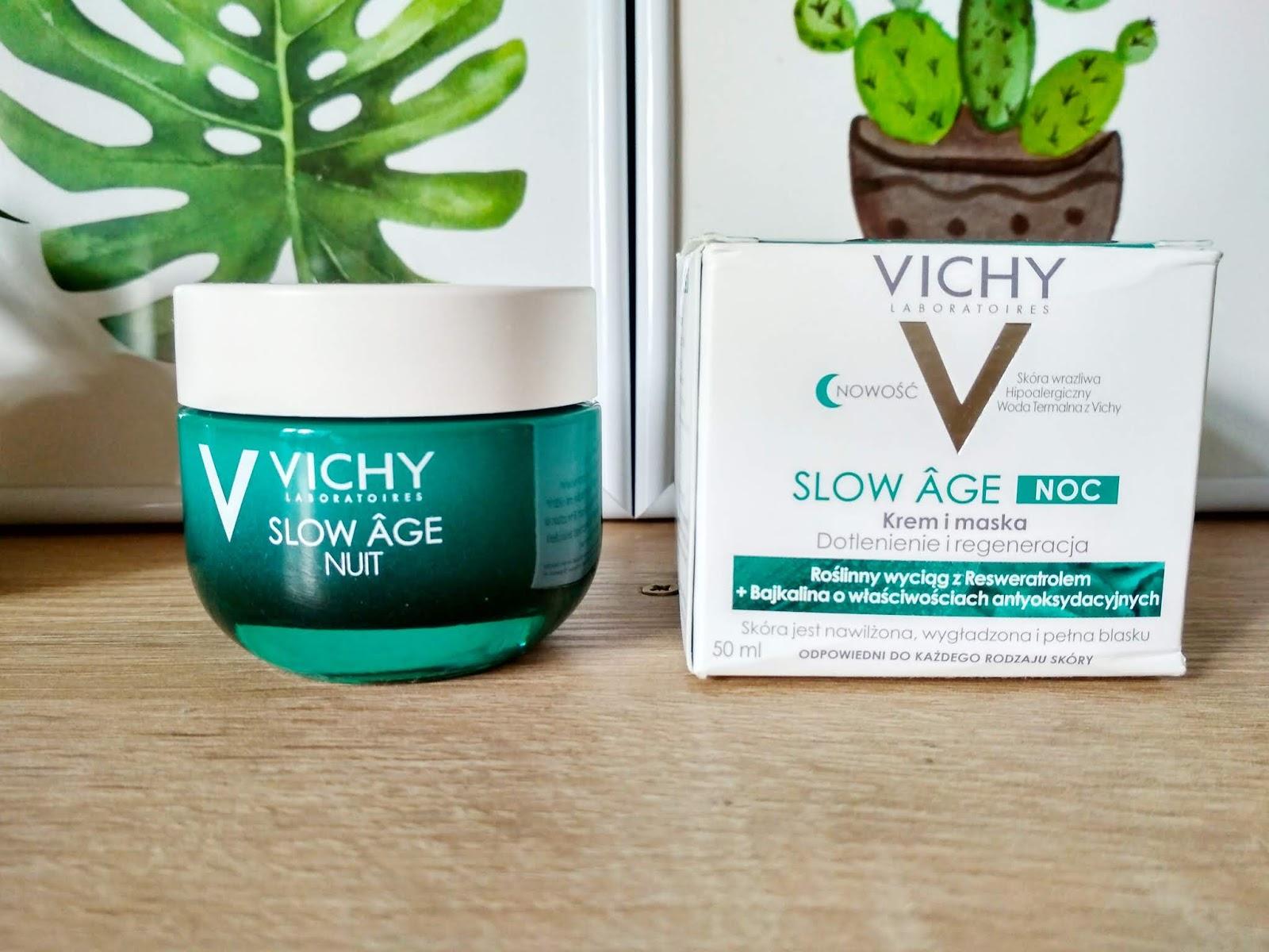 Recenzja - Vichy  Slow Age krem i maska dotlenienie i regeneracja | N. o kosmetykach