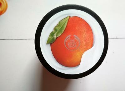 Recenzja - The Body Shop jogurt do ciała o zapachu mango | N. o kosmetykach