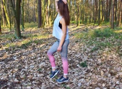 Nati jest fit!: Kolorowe legginsy - sportowy outfit do treningu na dworze