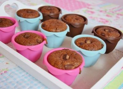 Nati jest fit!: Przepis na muffinki bananowo - czekoladowe