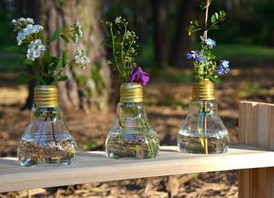 Nati jest fit!: Ekologiczne wazoniki na kwiaty DIY