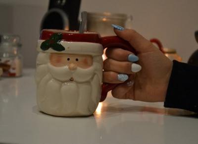 Istota ludzka: Manicure hybrydowy || Christmas nails