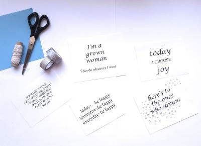 Nicolle's blog: DIY: dekoracje z cytatami | zacznij ten rok pozytywnie