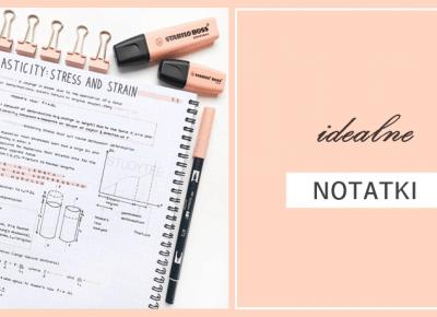 Niedoskonała: Jak robić idealne notatki?