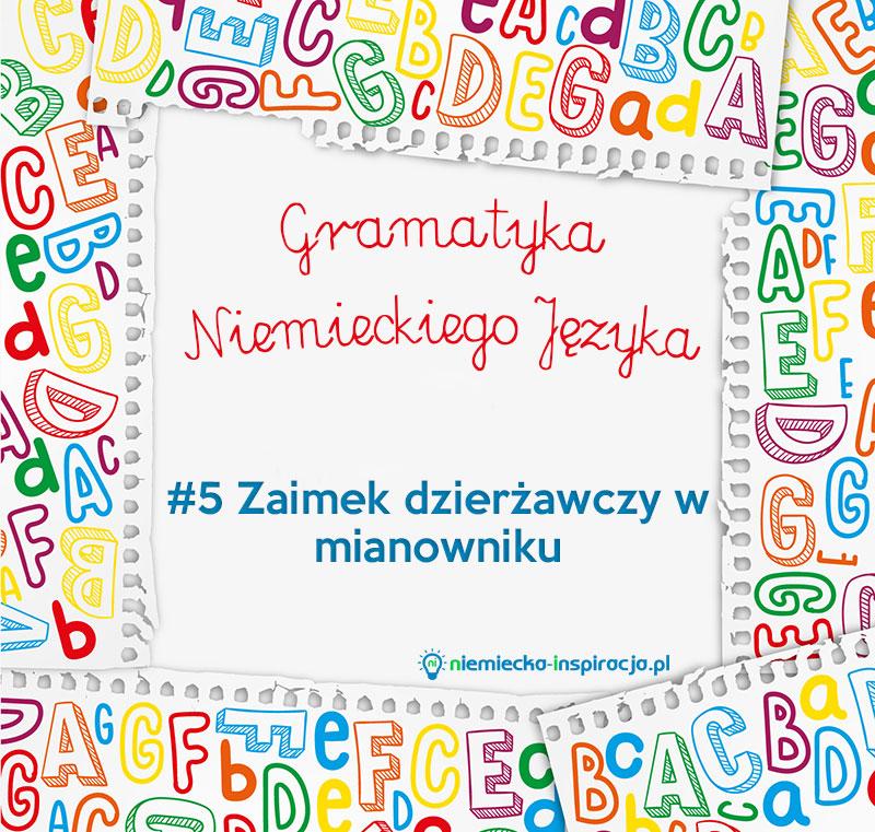 Zaimek dzierżawczy w mianowniku - niemiecka-inspiracja.pl