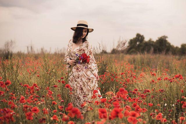Sukienka i kapelusz - letni outfit - inspiracja ❤️