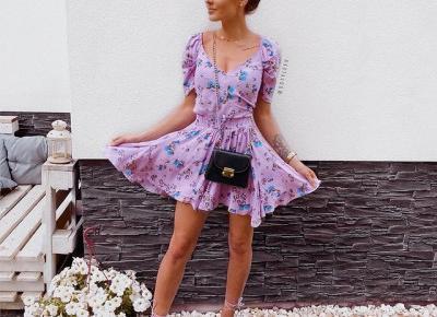 Letnia stylówka - sukienka 💜