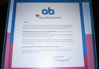 NOLENKA-BLOG: Jestem ambasadorką o.b.®