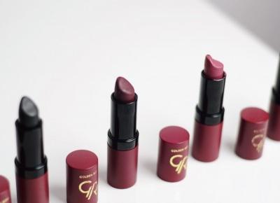Fioletowe, czarne, bordowe usta? Pomadki Golden Rose Velvet Matte! • Ola Brzeska