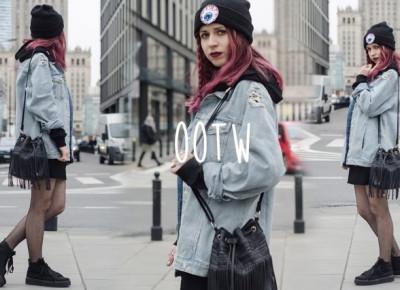 OOTW: Jeans jacket x fishnets • Ola Brzeska
