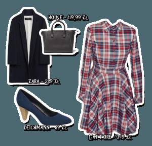 Sukienka w kratkę x3 – Ola Brzeska
