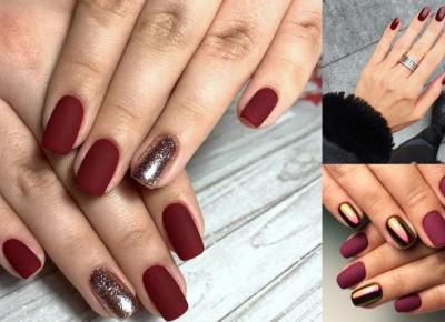 7 pomysłów na bordowy manicure