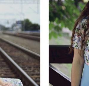 Floral Print vs. Baby Blue | sammydress.com