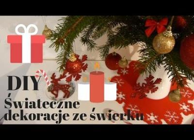 DIY świąteczne dekoracje ze świerku  OMG is that Angie?!