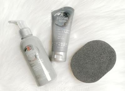 Beauty Courier: Avon - Planet SPA - Korean Charcoal - żel oczyszczający, maska peel off i gąbka do twarzy / Avon Planet SPA Korean Charcoal deep cleansing gel, peel off mask and sponge