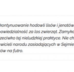Robert Biedroń walczy o zakaz hodowania zwierząt na futra. ...