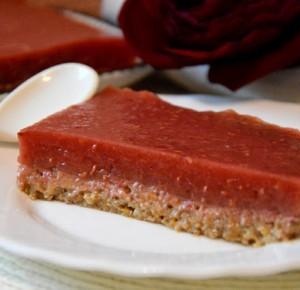 Healthy Dreams: ciasto z batata z malinową galaretką , bez pieczenia (WEGAN)