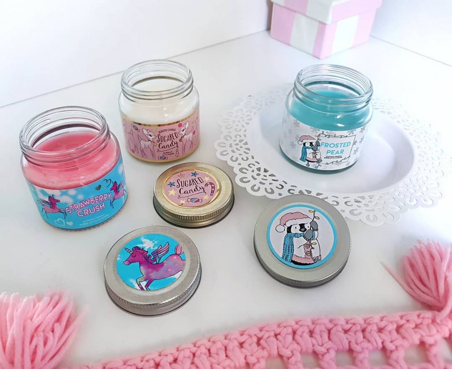 "Justyna 🎀 on Instagram: ""takie cuda z @primark 😍💞💖 lubicie świeczki zapachowe? 🌸🌸🌸 #candle #candles #primark #primania #pink #blue #love #loveit #decorations"""