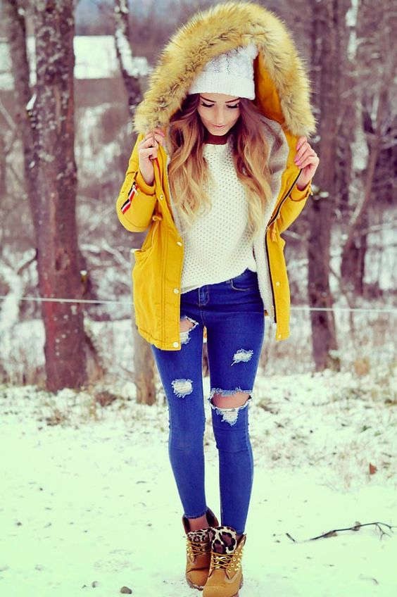 💛💙 Outfit for winter 💙💛