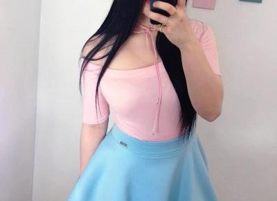 """🌸 Justyna 🌸 on Instagram: """"no hej! 🌸 kocham pastelowe stylizacje, a pudrowy róż i baby blue to dla mnie najpiękniejsze kolory ever! 💙 (i czarny, wiadomka 🖤). Ta…"""""""