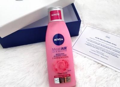 💙 Micelarne mleczko i tonik z wodą różaną 🌹 MicellAir Skin Breath - Nivea 💙