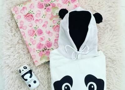 """🌸 Justyna 🌸 on Instagram: """"pandzioszki 🐼💖 lubicie? 🖤 #🐼 #panda🐼 #panda #pandas #pandalover #pandamug #pandahoodie #fashion #accessories #bluza #kubek #kubektermiczny…"""""""