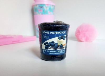 💜 przepysznie pachnący sampler od Yankee Candle - blueberry cheesecake 💜