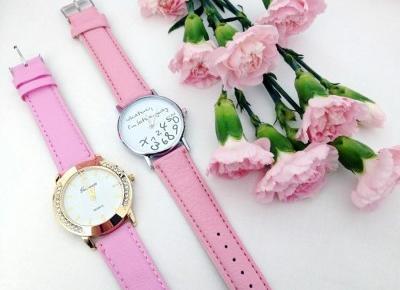 🌸 różowe zegarki 🌸 czyli coś dla dziewczyn lubiących urocze akcesoria 🌸