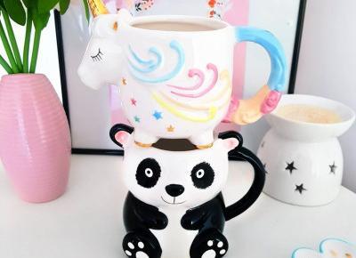 Kubki 3d - panda & jednorożec | Asda