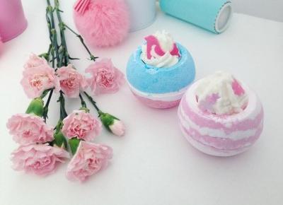 paandusia: Bomb Cosmetics, kule do kąpieli - miłosne gniazdko & zmysłowa fuksja