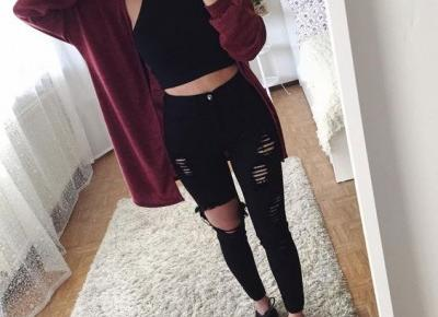 🖤 black & burgundy 🖤 outfit inspo 🖤