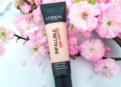 🌺 L'Oréal - Infallible 24H-Matte, Podkład do twarzy 🌺 | Opinia, realne zdjęcie